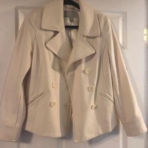 White pea coat brand new without tags one navy
